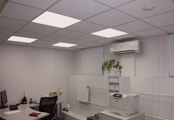 Монтаж офисного освещения