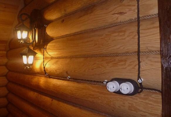 Электропроводка в деревянном доме в Москве и Московской области