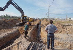 Монтаж электропроводки под землей