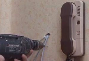 Монтаж телефонного кабеля