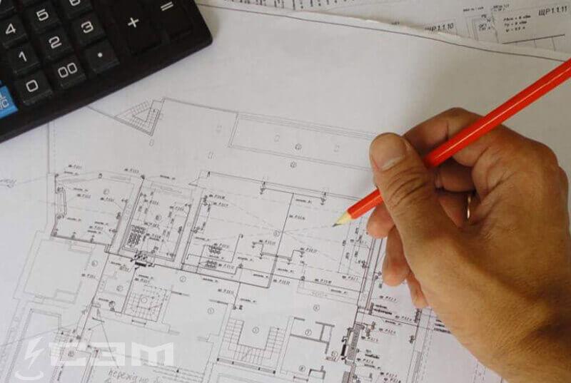 Составление однолинейной схемы электроснабжения
