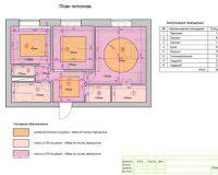 План потолков в помещении