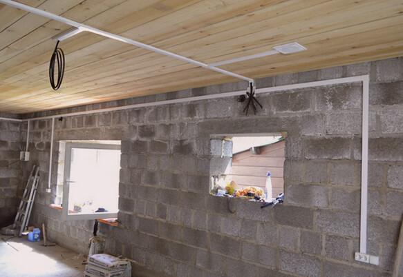 Монтаж электрики в гараже