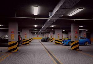 Монтаж освещения парковок