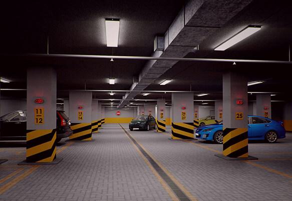 Освещение парковок и автостоянок