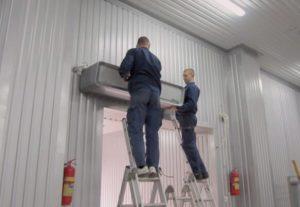 Подключение кондеционера на складе
