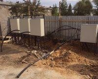 Монтаж электропроводки на улице